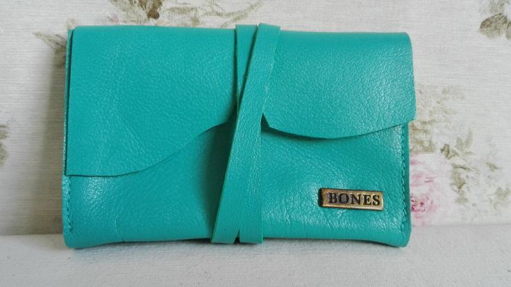 Unisex handmade, full grain leather wallet, cardholder. Handgemaakte, volnerf lederen etui portemonnee. door BonesArtisan op Etsy