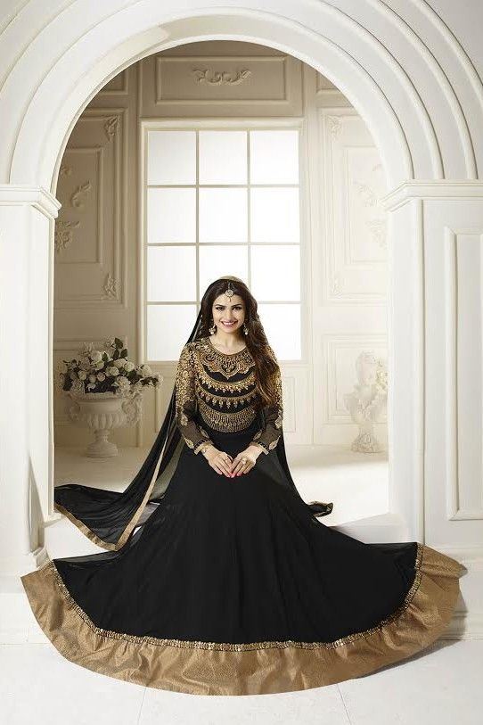 Royal and attractive  Prachi Desai ,black  Georgette anarkali style dress.  #DesignerAnarkaliSuits #DesignerAnarkaliSuitsOnline #anarkali_suits #anarkali_dress #anarkali_suits_online#designer_anarkali_suits #latest_anarkali_suits#bollywood_anarkali_suits #style #fashion #style