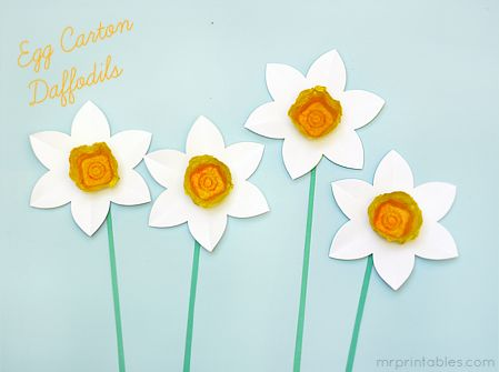 DIY - Daffodils from Egg Cartons: Crafts For Kids, Kids Ideas, Kids Printable, Egg Cartons, Eggs Cartons Crafts, Kids Crafts With Eggs Cartons, Cartons Flowers, Cartons Daffodils, Spring Crafts