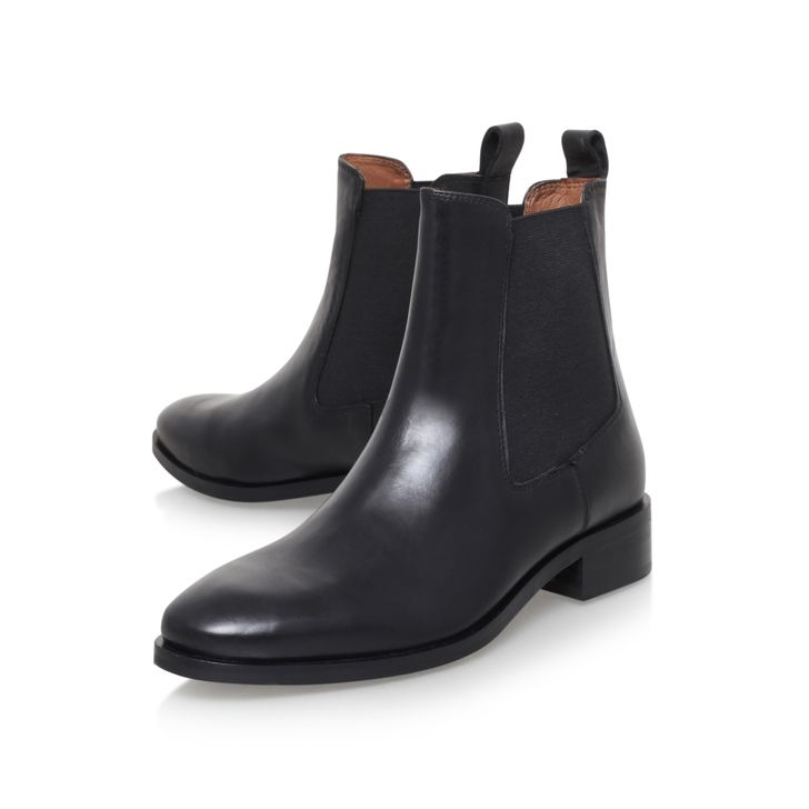 Dalby Black Flat Ankle Boots By Kurt Geiger London | Kurt Geiger