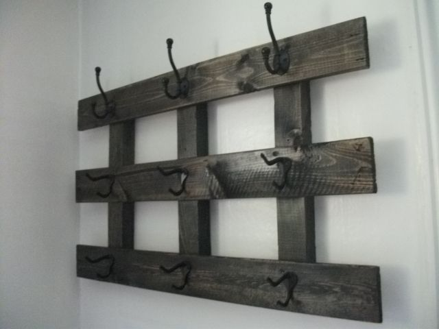 Coat And Hat Rack Made From Recycled Pallet Pallets