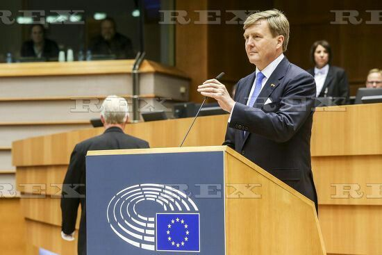 King Willem-Alexander visits the European Parliament, Brussels, Belgium - 25 May 2016 King Willem-Alexander addresses the plenary 25 May 2016