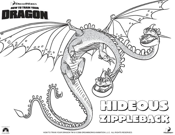 Hideous Zippleback Coloring Pages
