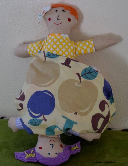 flip doll joined with reversible skirt
