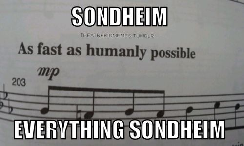 """Vocalists usually warn me when they are planning on giving me a Sondheim piece for accompaniment... """"Just to warn you, most of this stuff is Sondheim"""""""