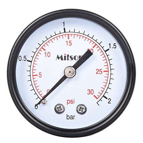"""Milson Pressure Gauge, 2.5"""" Black Steel Case, Back Mount, 1/4""""NPT, 0+30 Psi/Bar, Accuracy: +/-2.0, Brass Internal, Multiple Function  <b>Longer Using Time</b></br>30,000 Times Reciprocating Using  <b>Accuracy</b></br>3 Point Checking For Full Range, +/-2.0% Accuracy</br>  <b>Clearer</b></br>Fan-Shaped Pointer, More Clear In Indication</br>  <b>Pro-Environment</b></br>Lead-Free Soldering; EPE Packing Material Which is Degradable</br>  <b>Packing</b></br>Stronger and More Beautiful</br>"""