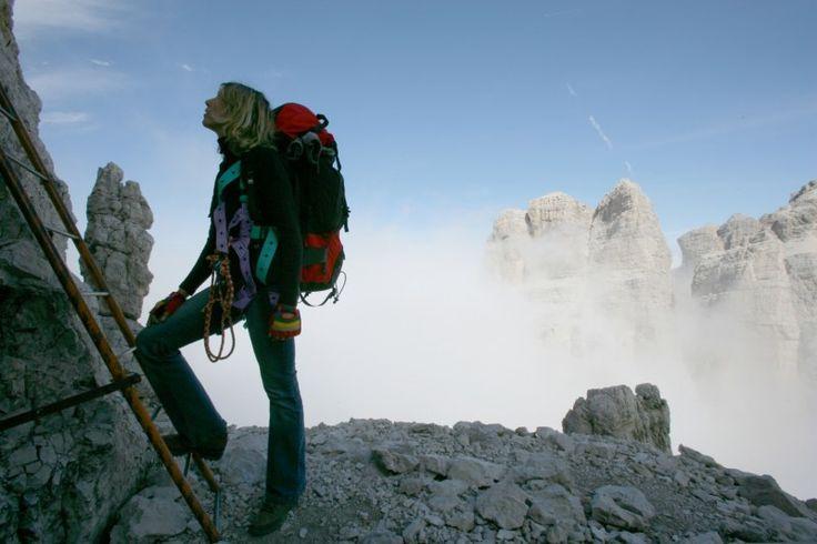 #trekking in #altaquota nelle #DolomitidiBrenta  #pinzolo #madonnadicampiglio #montagna #mountains #bocchettedelbrenta #Dolomites #Dolomiti #scaleferrate
