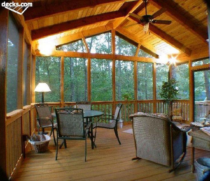 Cedar Screened Porch Interior