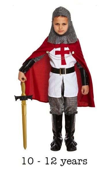 Child Crusades Knight Fancy Dress Costume 10 - 12 yrs