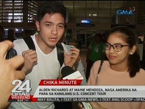 24 Oras: Alden Richards at Maine Mendoza, nasa Amerika na para sa kanilang U.S. concert tour - WATCH VIDEO HERE -> http://philippinesonline.info/aldub/24-oras-alden-richards-at-maine-mendoza-nasa-amerika-na-para-sa-kanilang-u-s-concert-tour/   24 Oras is GMA Network's flagship newscast, anchored by Mike Enriquez, Mel Tiangco and Vicky Morales. It airs on GMA-7 Mondays to Fridays at 6:30 PM (PHL Time) and on weekends at 5:30 PM. For more videos from 24 Oras, visit  Subscrib