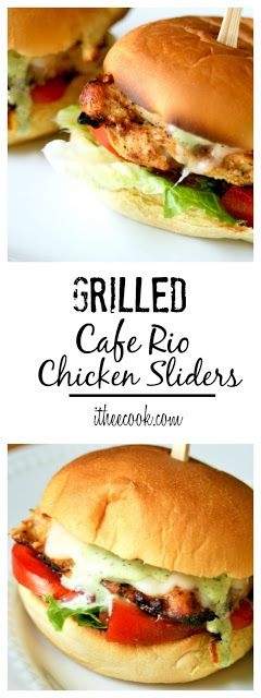 I Thee Cook: Grilled Cafe Rio Chicken Sliders