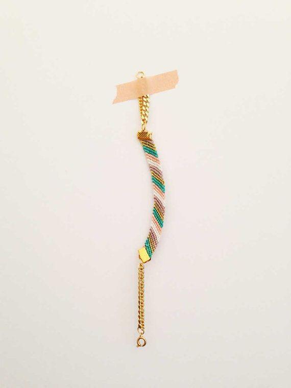 Striped friendship bracelet