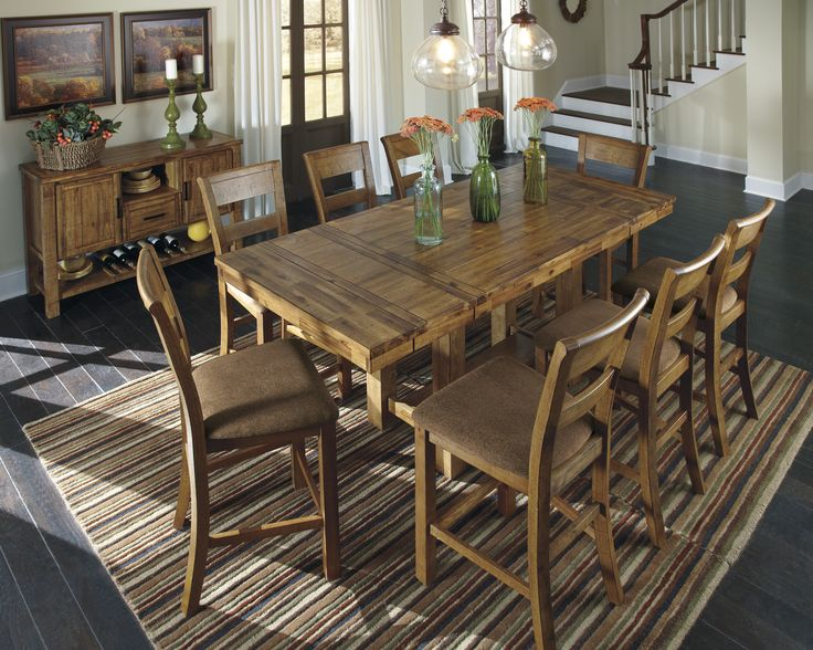 extendable dining room table by signature design by ashley. signature design by ashley krinden counter height extendable dining table room