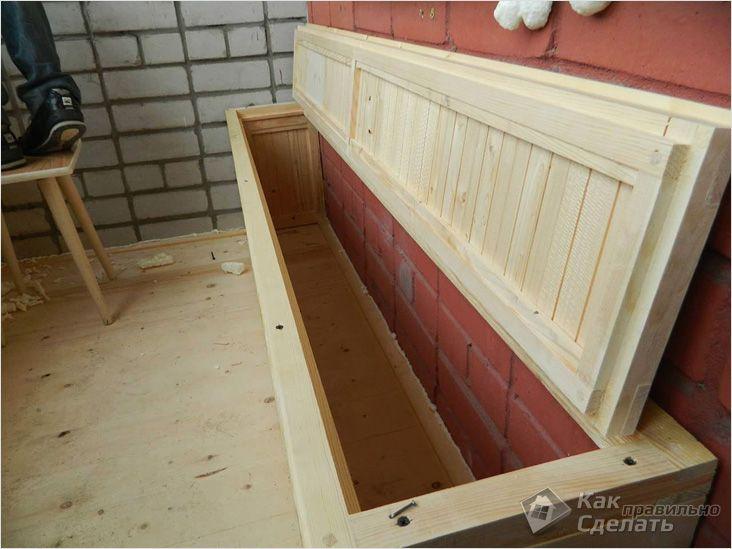 Функциональная скамейка-короб