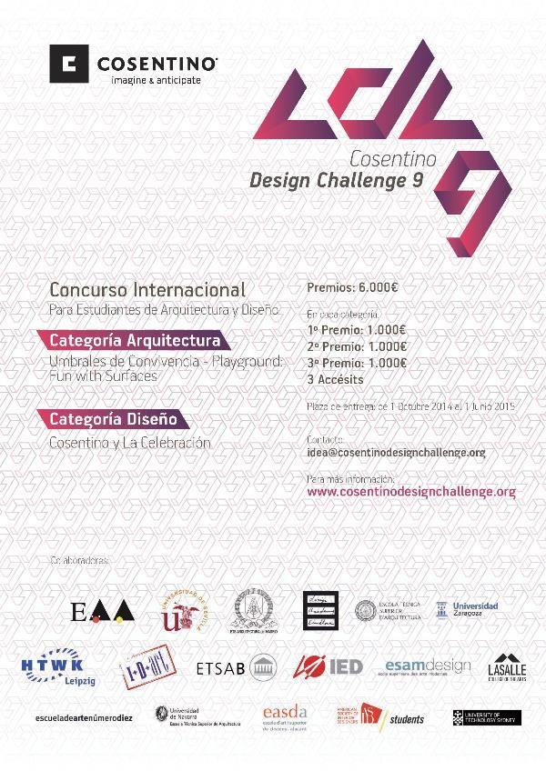 9ª edición del Concurso Cosentino Design Challenge   Experimenta