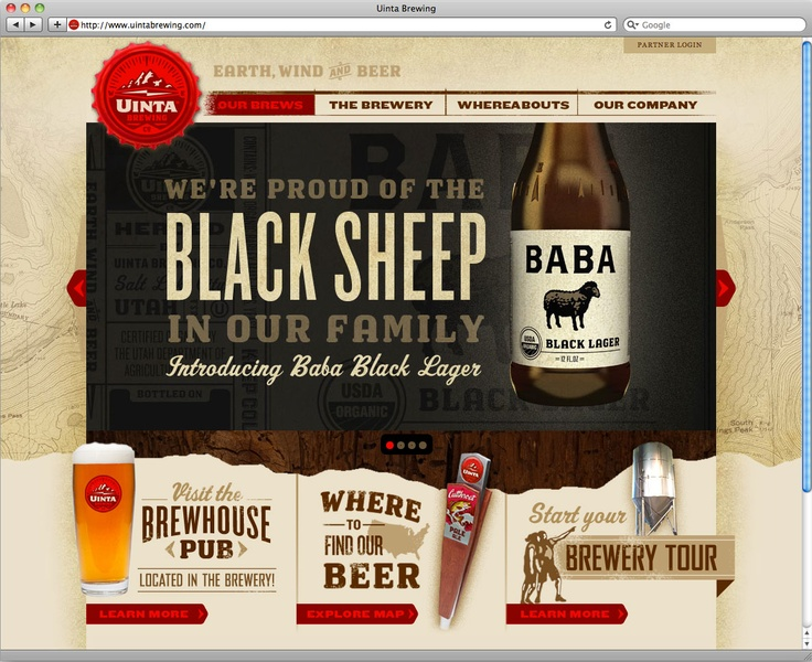 Uinta Website by Tenfold Collective: Websitedesign, Brewing Website, Brewing Beer, Uinta Brewing, Webdesign Website, Beer Website, Website Design, Uinta Website, Design Layout
