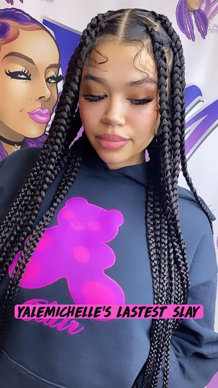 Braids Hairstyles Pictures, Baddie Hairstyles, School Hairstyles, Hair Pictures, Pretty Hairstyles, Braided Hairstyles, Protective Hairstyles, Protective Styles, Girl With Pigtails