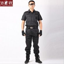 Secret security guard uniform military suit short-sleeved black combat security uniforms on duty special warfare Video props(China (Mainland))