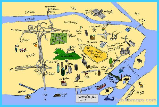 nice Map of Montreal