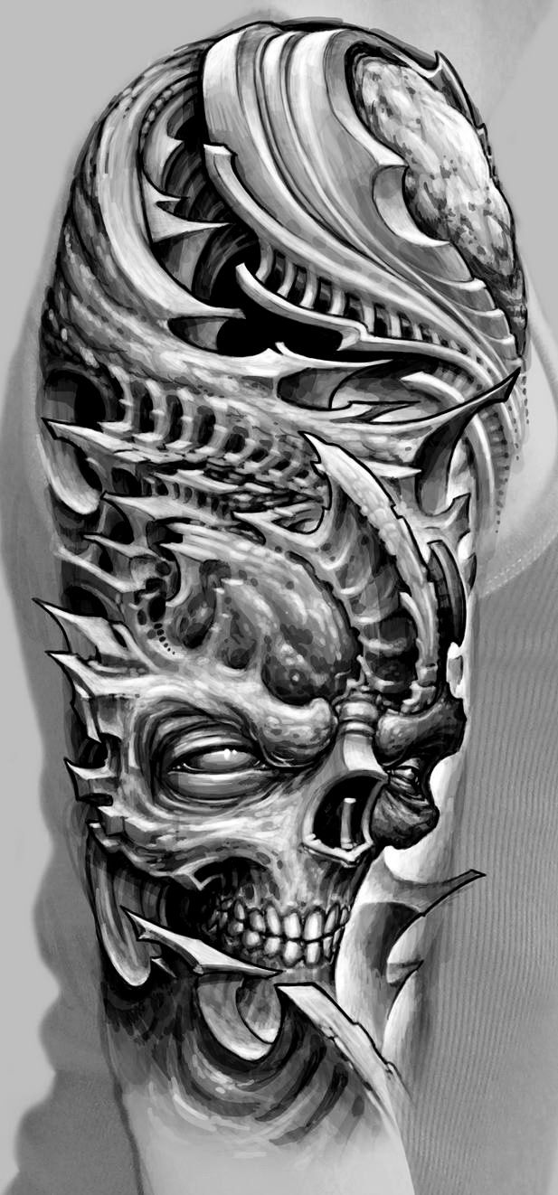 Biomechanical tattoos designs - 3d Biomechanical Tattoo See More Guy Aitchison Hyperspase Studio 61 Jpg 617 1322