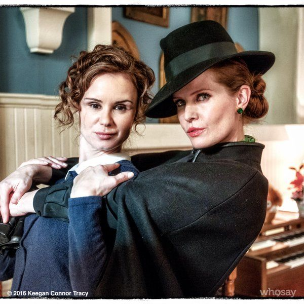 """""""So wicked to finally work with the Green Goddess @bexmader  #OnceUponATime"""" - Keegan Connor Tracy via Twitter."""