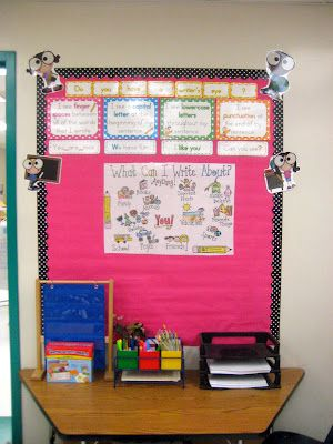 Kindergarten Smiles: Classroom writing center **plan on using something similar if in the same room