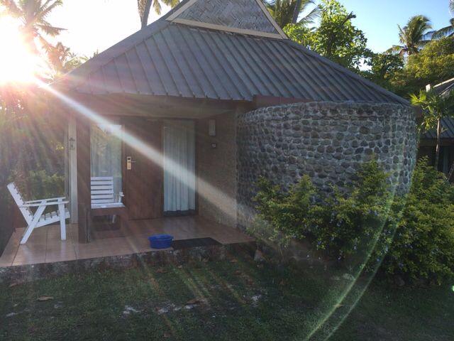 My #bure! Love the #outdoorshower! Mana Island Resort #Fiji