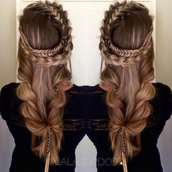 Romantic Game of Thrones braid and style by Lalas Updos. Wreath braid #hotonbeau…