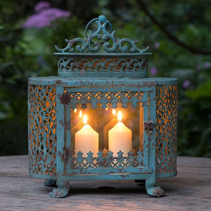 antique style french lantern by the flower studio | notonthehighstreet.com