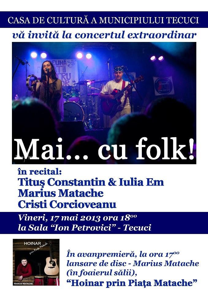 pe 17 mai ne vedem la Tecuci, la Casa de Cultura a municipiului, in sala Ion Petrovici si in foaier cu discul, sa ne lansam