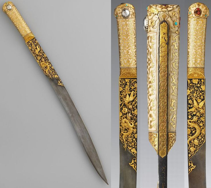 Ottoman yataghan made by Ahmed Tekelu, dated ca.1525.