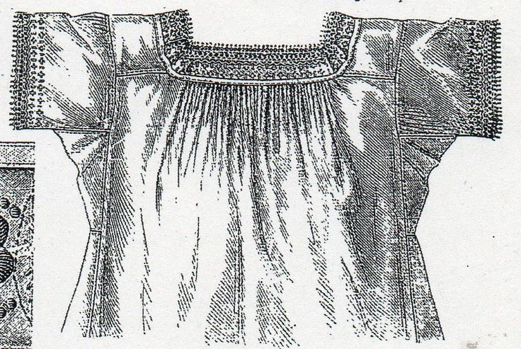 Chemise with square neck cut and gores from Budapesti Bazár 1878