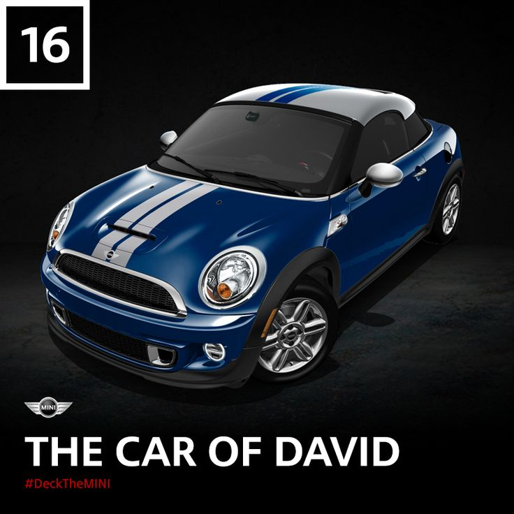 Chief Motorer David Duncan, that is. As myth has it, the headlights once shone for 8 days and 8 nights – after the MINI was turned off. #DeckTheMINI