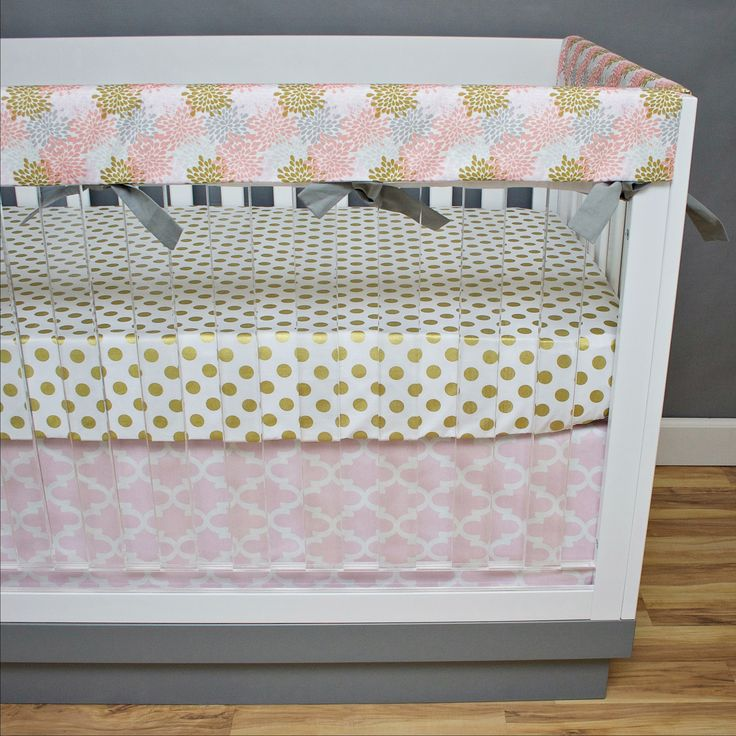 Golden Blooms Crib Bedding~ Rail Guards