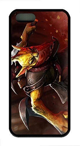 iPhone 5S Case iPhone 5S Cases - Soft-Interior Scratch Protective Case Cover for iPhone 5/5s Gondar Dota 2 Stylish Design Black Rubber Back Bumper Case for iPhone 5/5S