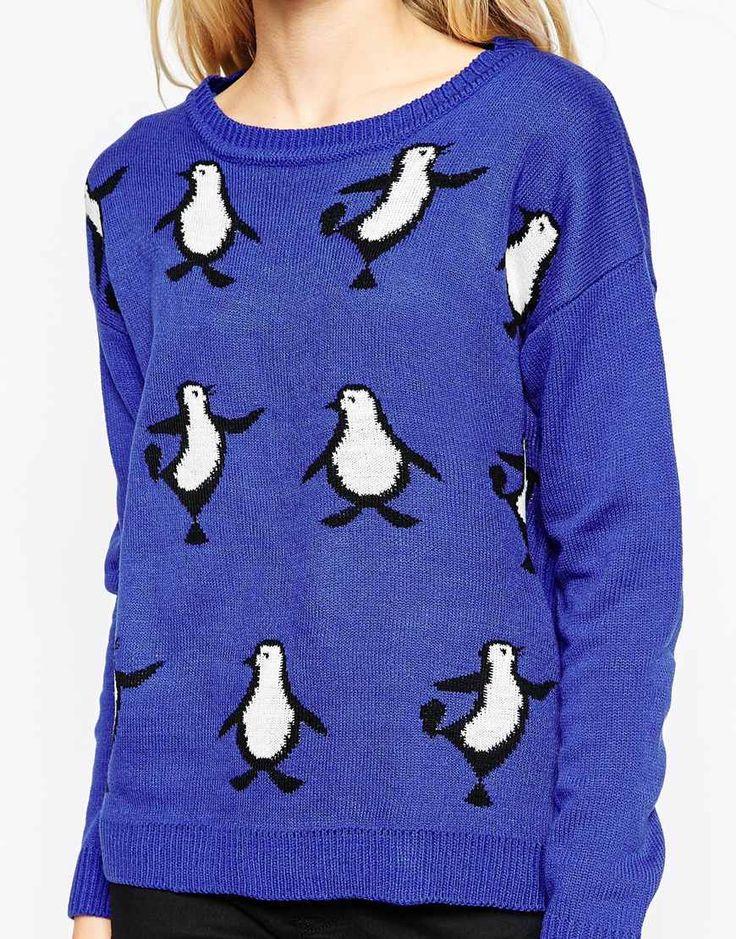 Image 3 - Brave Soul - Pull de Noël motif pingouins danseurs