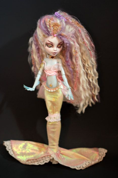 OOAK Mermaid Monster High Doll Lagoona Repaint by Refabrications