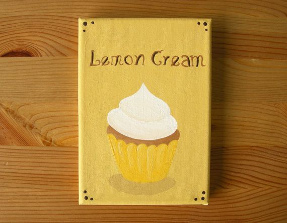Lemon Cream Cupcake  Cupcake Art  Kitchen by OhDeerIllustrations
