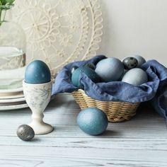 Рецепт - Крашеные синие и голубые яйца к Пасхе при помощи красной капусты