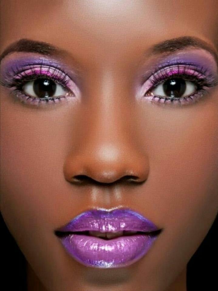 Purple Makeup On Dark Skin