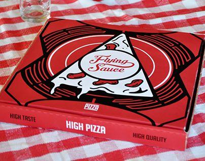Ознакомьтесь с этим проектом @Behance: «Flying Sauce - Pizza brand packaging» https://www.behance.net/gallery/30039225/Flying-Sauce-Pizza-brand-packaging