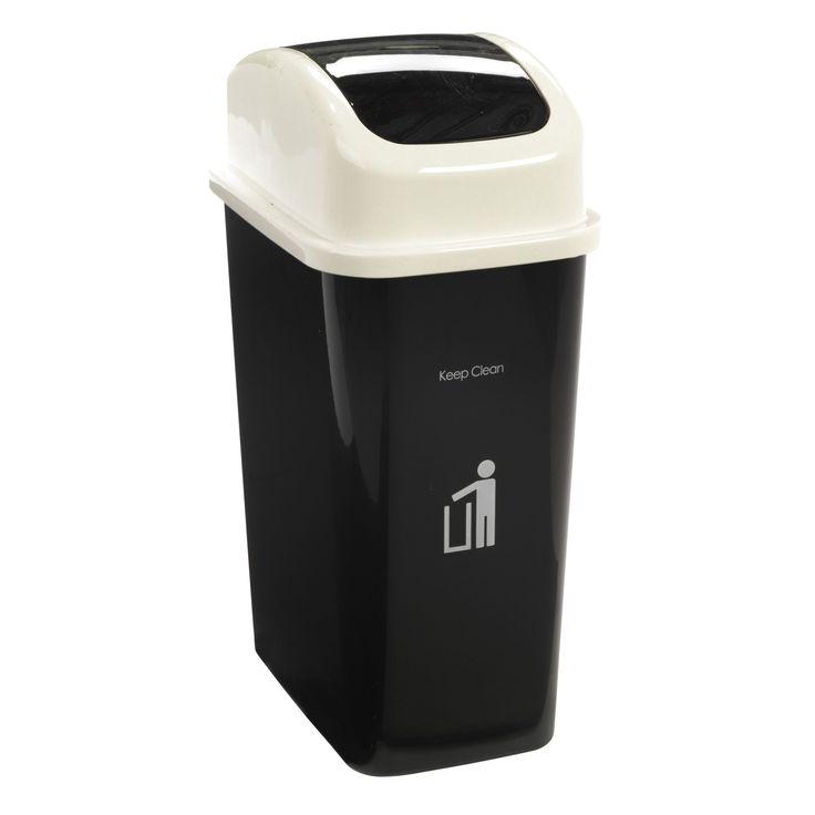 poubelle de cuisine noir swing les poubelles de cuisine poubelles tout pour - Poubelle De Cuisine Jaune