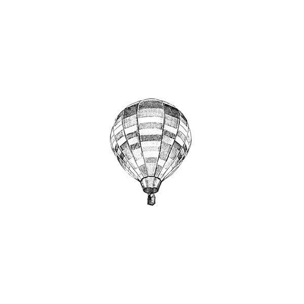 River City Rubber Works: Hot Air Balloon ❤ liked on Polyvore featuring fillers, backgrounds, drawings, sketches, doodles, text, quotes, saying, scribble and phrase