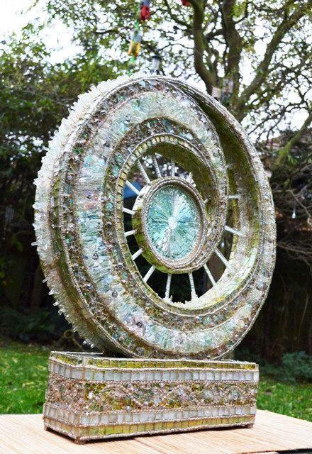 Mosaic art, mosaic sculpture & mosaic Lamp, Glass sculpture - Catalyst. $7,958.88 USD