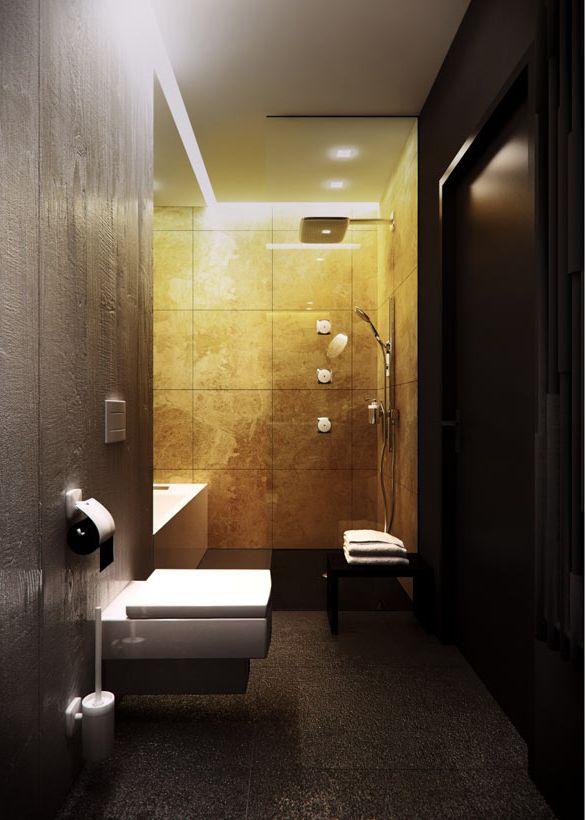 Bathroom design in Katowice POLAND - archi group. Łazienka w mieszkaniu w Katowicach.