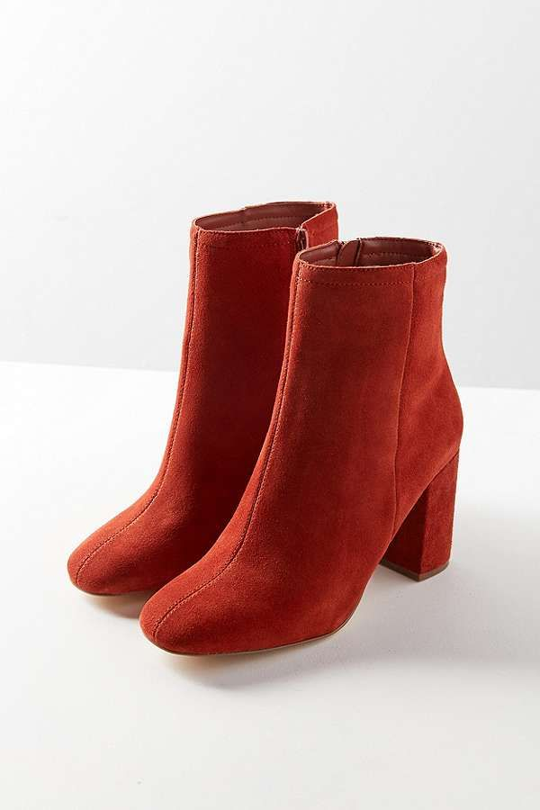 Sloane Seamed Rust Suede Ankle Boots