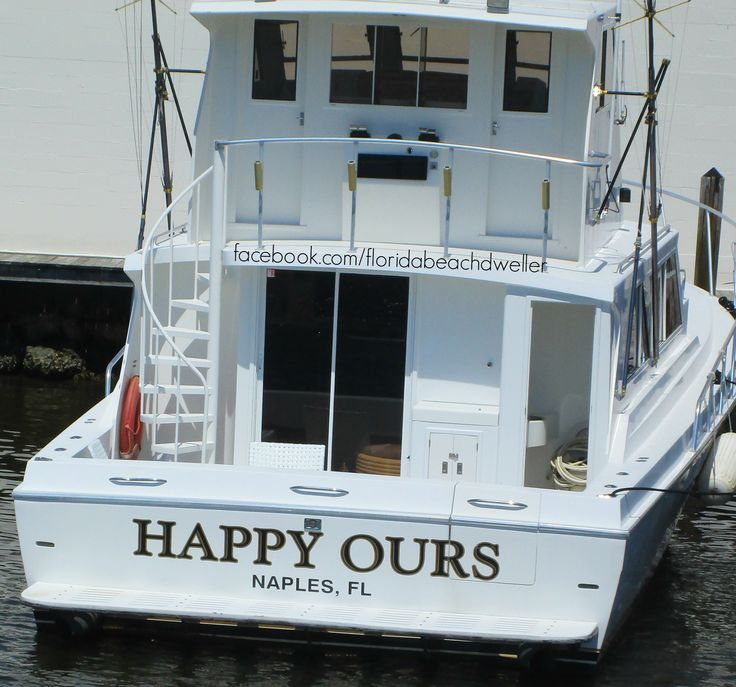 Great boat name! Happy Ours in Naples, Florida. Florida Living: https://www.pinterest.com/complcoastal/florida-living/