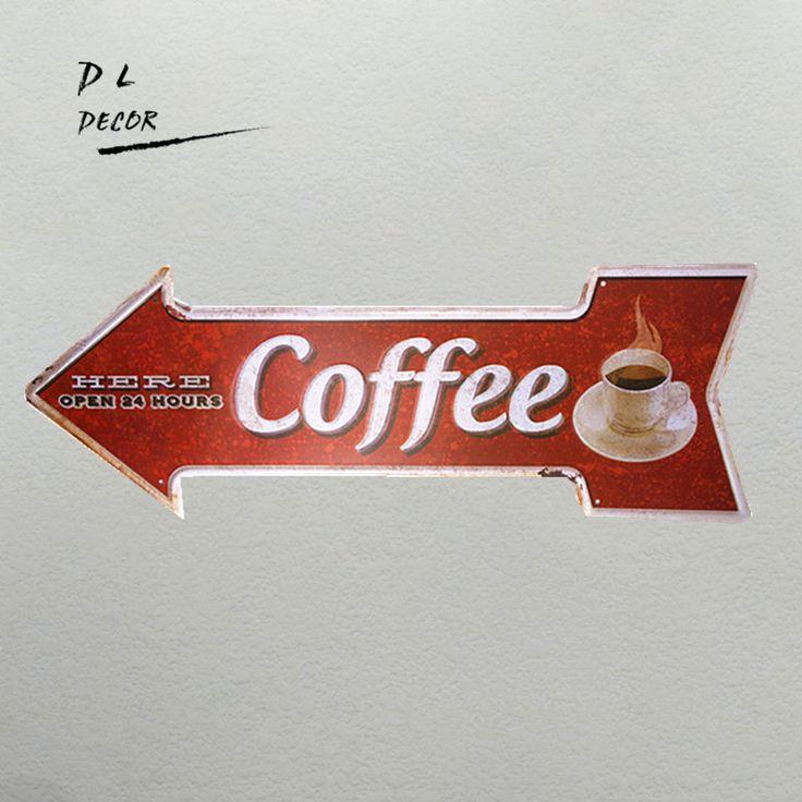 DL Hard koffie opening Onregelmatige pijl teken cafe borden keuken decor rode poster muur in DL-Hard koffie opening Onregelmatige pijl teken cafe borden keuken decor rode poster muur van Plaques & Borden op AliExpress.com | Alibaba Groep