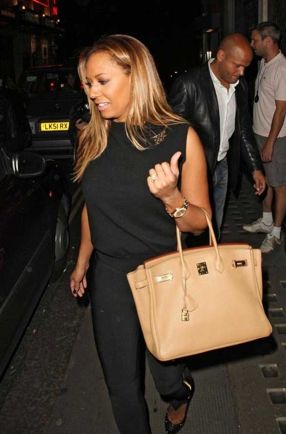 Mel B Leaving the Ivy