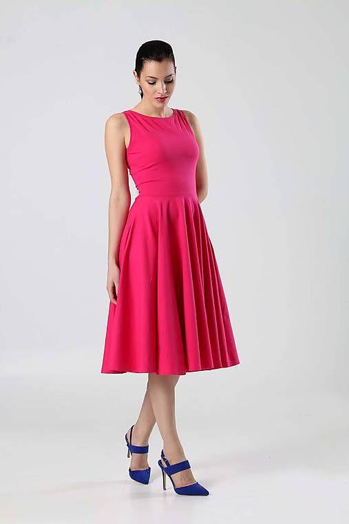 1f6ce6702b80 Midi šaty tmavo ružové   ZuzanaZachar